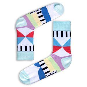 Ponožky farebné pastelky