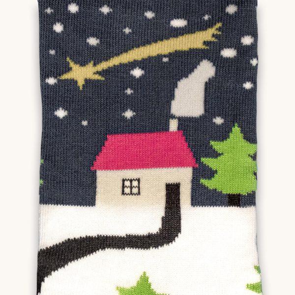 vianocne ponozky vyrobene na slovensku - sneh