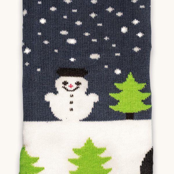vianocne ponozky vyrobene na slovensku - snehuliak